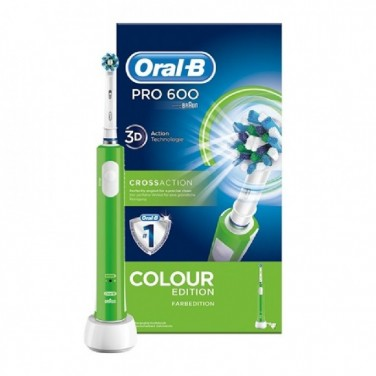 Cepillo Eléctrico Braun Oral-B PRO 600 CROSS ACTION Verde