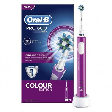 Cepillo Eléctrico Braun Oral-B PRO 600 CROSS ACTION Morado