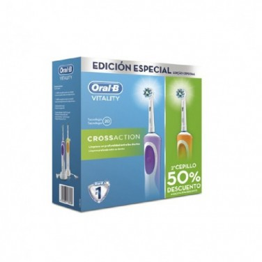 Cepillo Eléctrico Braun Duo Oral-B Vitality CrossAction