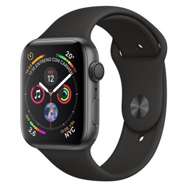 Apple Watch Series 4 GPS 40mm Gris Espacial con Correa Deportiva Negra