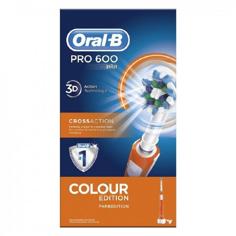 Cepillo Eléctrico - Oral B PRO 600 CROSS ACTION Naranja 3bde54f61e61