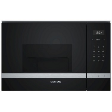 Microondas SIEMENS BE555LMS0 Integrable con Grill Cristal Color Negro sin marco