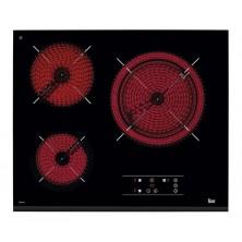 Encimera Vitrocerámica Teka TZ 6315 3 zonas Color Negro con Bisel Frontal
