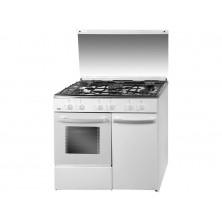 Cocina de Gas SVAN SVK9551GBB 5 fuegos Inox/Blanco