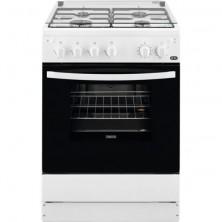 Cocina Libre Instalación ZANUSSI ZCG61281WA Gas 4 Fuegos Tapa Cristal Blanco