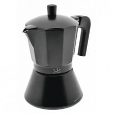 CAFETERA JATA CFI6 - 6 TAZAS -  ALUMINIO - TRATAMIENTO ESPECIAL ANTIOXIDO - INTERIOR...