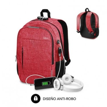 MOCHILA SUBBLIM URBAN LOCK RED
