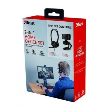 PACK 2 EN 1 TRUST DOBA HOME OFFICE SET -
