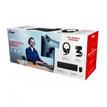 PACK 4 EN 1 TRUST QOBY HOME OFFICE SET -