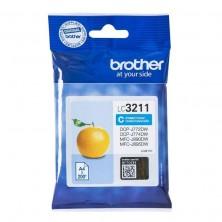 Cartucho de tinta original brother lc-3211c/ cian