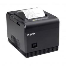 Impresora de tickets approx apppos80am/ térmica/ ancho papel 80mm/ usb-rs232/ negra