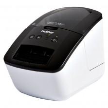Impresora de etiquetas brother ql-700/ térmica/ ancho etiqueta 62mm/ usb/ blanca/negra