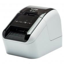 Impresora de etiquetas brother ql-800/ térmica/ ancho etiqueta 62mm/ usb/ blanca/negra